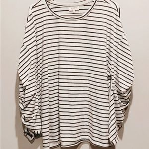 Black and white striped boutique shirt